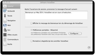 Utilitaire de VoiceOver.
