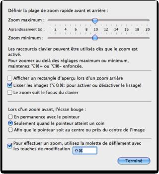 Image- option du zoom